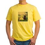 Seine / Scotties (b&w) Yellow T-Shirt