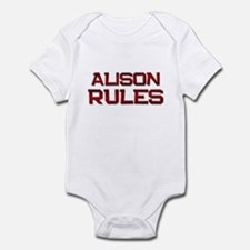 alison rules Infant Bodysuit