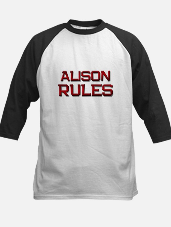 alison rules Kids Baseball Jersey