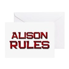 alison rules Greeting Card