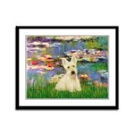 Lilies / Scottie (w) Framed Panel Print