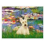 Lilies / Scottie (w) Small Poster