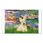 Lilies / Scottie (w) Sticker (Rectangle 10 pk)
