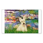 Lilies / Scottie (w) Sticker (Rectangle)