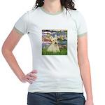 Lilies / Scottie (w) Jr. Ringer T-Shirt