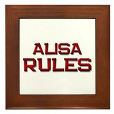 alisa rules Framed Tile