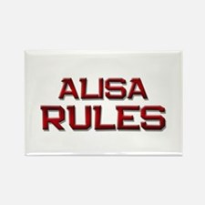 alisa rules Rectangle Magnet