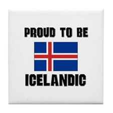 Proud To Be ICELANDIC Tile Coaster
