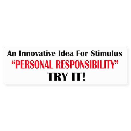 Idea for Stimulus-Personal Responsibility Sticker