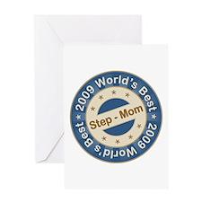 2009 World's Best Step-Mom Greeting Card