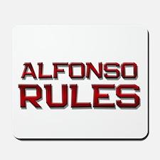 alfonso rules Mousepad