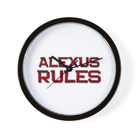 alexus rules Wall Clock