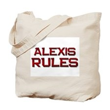 alexis rules Tote Bag