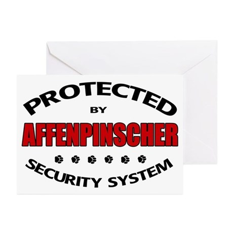 Affenpinscher Security Greeting Cards (Pk of 20)