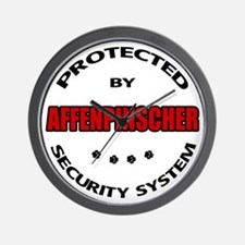 Affenpinscher Security Wall Clock