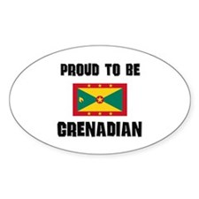 Proud To Be GRENADIAN Oval Decal