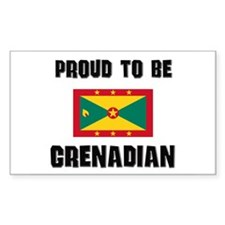 Proud To Be GRENADIAN Rectangle Decal