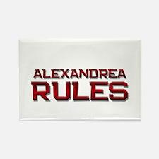 alexandrea rules Rectangle Magnet