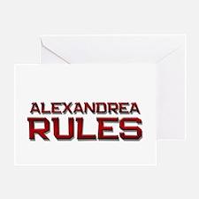 alexandrea rules Greeting Card