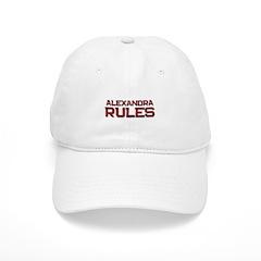 alexandra rules Baseball Cap