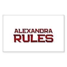 alexandra rules Rectangle Decal