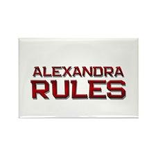 alexandra rules Rectangle Magnet