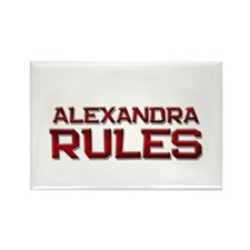 alexandra rules Rectangle Magnet (10 pack)