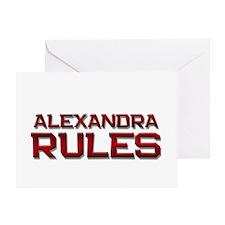 alexandra rules Greeting Card