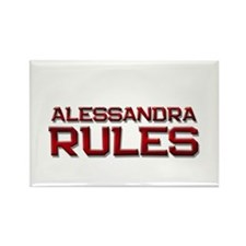 alessandra rules Rectangle Magnet