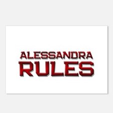 alessandra rules Postcards (Package of 8)