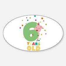 Six Years old sixth Birthday Party C7oge Decal