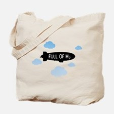 Hydrogen Blimp & Clouds Tote Bag