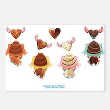 Kawaii Chocolates Postcards (Package of 8)