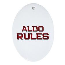 aldo rules Oval Ornament
