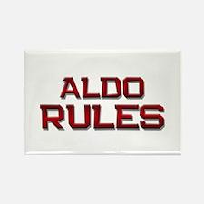 aldo rules Rectangle Magnet