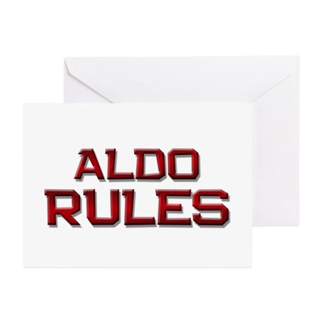 aldo rules Greeting Cards (Pk of 20)