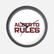alberto rules Wall Clock