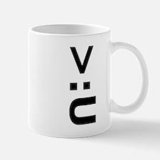 Angry U Face Mug