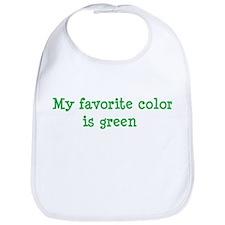 My favorite color is green Bib