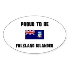 Proud To Be FALKLAND ISLANDER Oval Decal