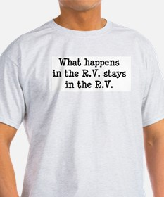 What happens in the R.V. stays in the R.V. T-Shirt