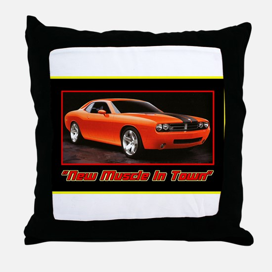 """New Muscle"" Throw Pillow"