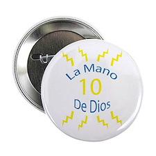 """La Mano De Dios 2.25"""" Button"""