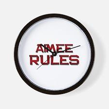 aimee rules Wall Clock