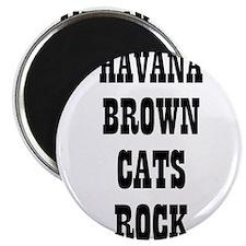"""HAVANA BROWN CATS ROCK 2.25"""" Magnet (10 pack)"""