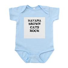 HAVANA BROWN CATS ROCK Infant Creeper