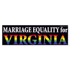 Virginia Marriage Equality bumper sticker