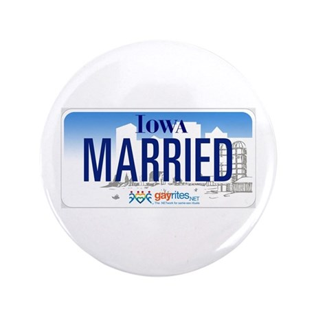 """Iowa Marriage Equality 3.5"""" Button (100 pack)"""