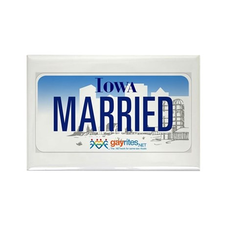Iowa Marriage Equality Rectangle Magnet (10 pack)