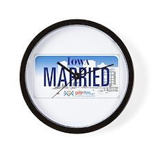Iowa Marriage Equality Wall Clock